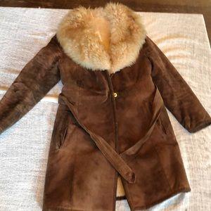 Vintage leather penny lane coat xs